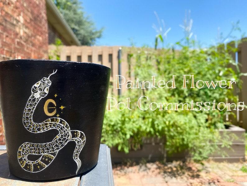 Painted Flower Pot Commissions
