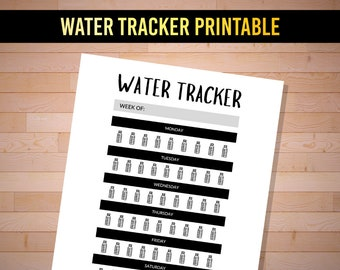 Water Tracker Printable / Health Tracker / Water Bottle Printable / Water Hydration / Water Tracker Hydration / Water Tracker Journal
