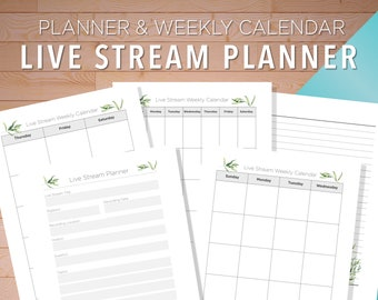 Live Stream Planner, Live Streaming Platform, Live Streaming Journal, Live Streaming Service