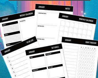 The Planner of A Lifetime / Life Planner / Daily To Do List Bundle / Daily Schedule Organizer / Planner Printables / Productivity Planner