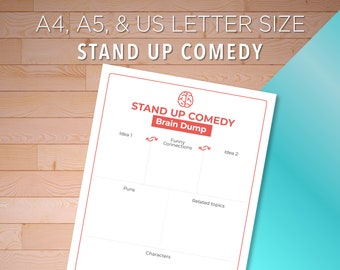 Stand Up Comedy Printable, Stand Up Comedian, Stand Up Comedy Gift, Stand Up Comedy Planner, Stand Up Comedy Worksheet, Printable Jokes