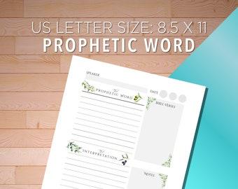 Prophetic Words Journaling, Prophetic Words Journal