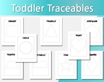 Toddler Shape Traceables, Toddlers Tracing Activity Worksheets, Preschool Activity Worksheet, Preschool Activities, Preschool Tracing