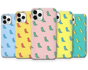 Dinosaur Phone Case T-Rex Cover fit for iPhone 13 Pro, 12, 11, XR, XS, 8+, 7 & Samsung S10, S21, A50, A51, Huawei P20, P30 Lite