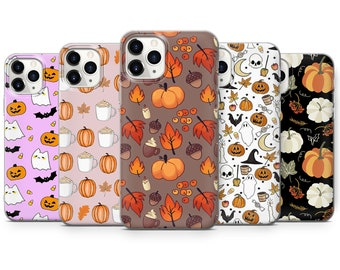 Autumn Phone Case Fall Leaves Cover fit for iPhone 13 Pro, 12, 11, XR, XS, 8+, 7 & Samsung S10, S21, A50, A51, Huawei P20, P30 Lite