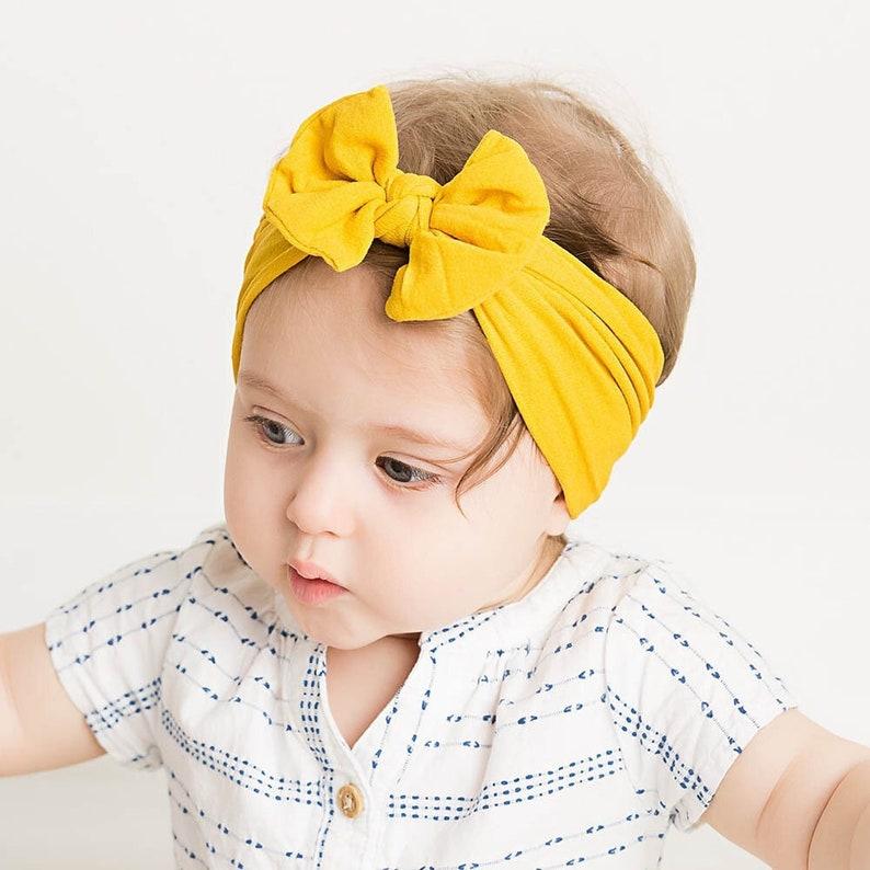 Baby Bow Headband Baby BowsBaby Hair BandsStretchy Nylon Headband Pink Bow Infant Toddler HeadbandBaby Headband Baby Head Wrap