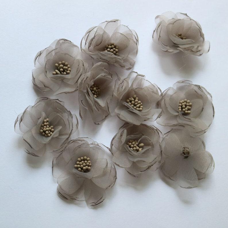 10pcslot diy handmade Chiffon flowers patches for clothing 3D floral fairy floral parche appliques parches bordados para ropa