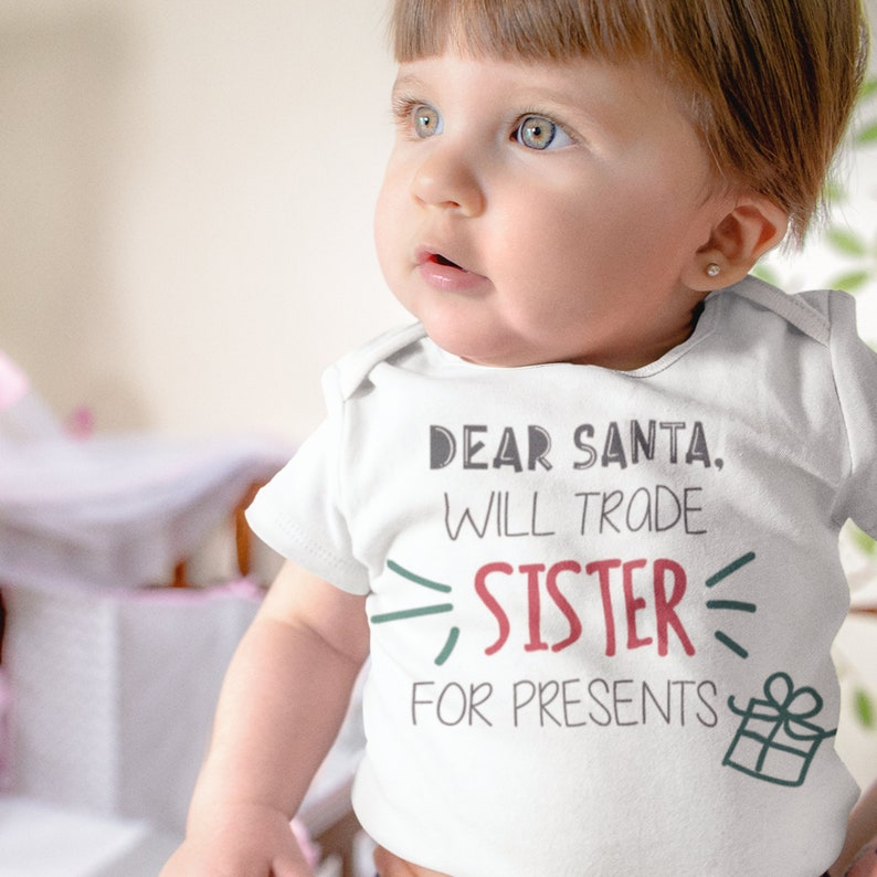 Baby onesies Onesies Christmas baby onesies Baby Girl Christmas gift for baby Dear Santa Christmas baby girl onesies Baby girl onesie