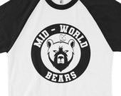 The Dark Tower Shardik Mid-World Bears 3/4 sleeve raglan shirt | Stephen King, Ka, Mid-World, The Gunslinger