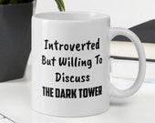 The Dark Tower Introverted White Glossy Mug | Stephen King, Ka, Mid-World, The Gunslinger