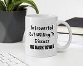 The Dark Tower Introverted White glossy mug