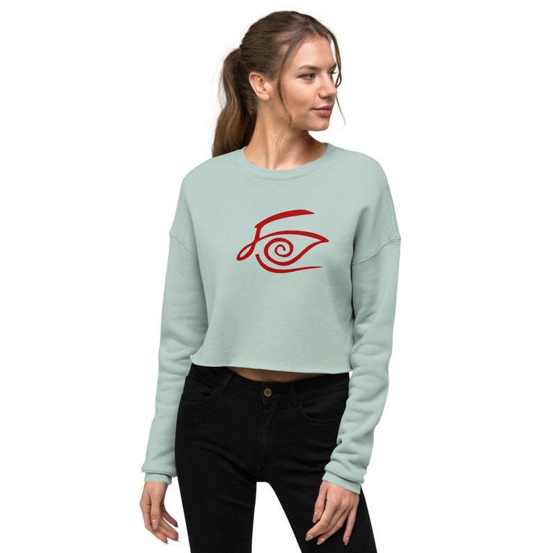 The Crimson King Crop Sweatshirt image 0