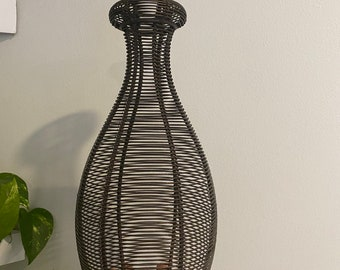 Vintage Plant Holder - Metal Wire Vase