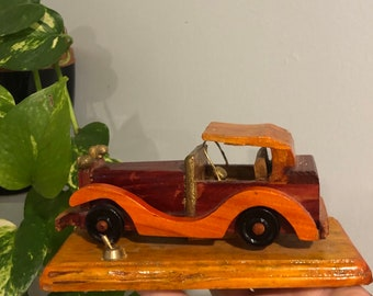 Vintage One Of A Kind - Model Car - Wooden Replica Car