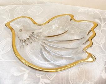 1950s Hand Painted Grape Motif Ring Bearer Box Gold White Dove Japan Trinket Dish 3 12 H x 5 12 L x 4 Wedding Ring Dish