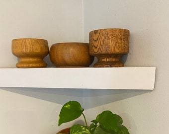 Set of 3- Vintage Wooden Bowls