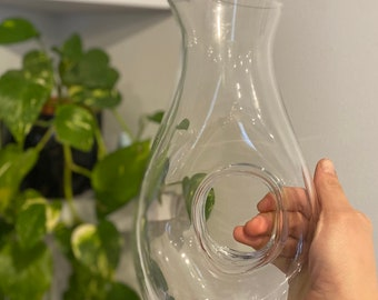 Vintage Glass Water Pitcher / Wine Decanter - Midcentury Modern Inspired Home Decor