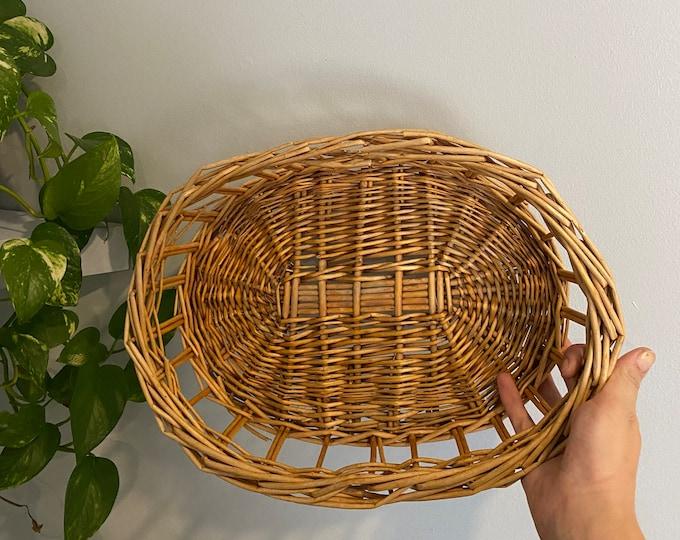 Featured listing image: Vintage Round Boho Basket Tray
