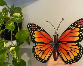 Vintage / Retro Inspired Hanging Monarch Butterfly Wall Art