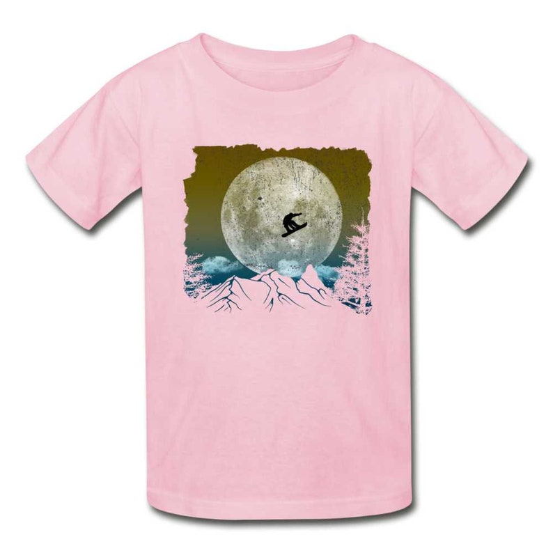 Unisex Ultra Cotton Youth T-Shirt Sports Snowboarding Trick In The Mountains Extreme Sport Stunts