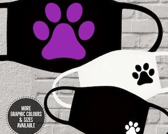 Puppy Paws Reusable Washable Cotton Face Masks