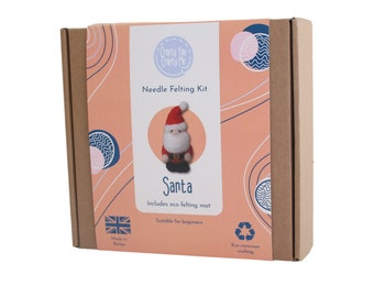 Santa Needle Felting Kit, Christmas Craft Kit Activity, Beginners Felting Kit, Father Christmas Project, Adult Crafting Gift