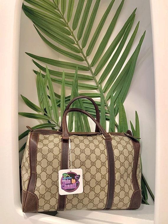 ON HOLD for L    Vintage 70s Gucci Supreme Boston… - image 1