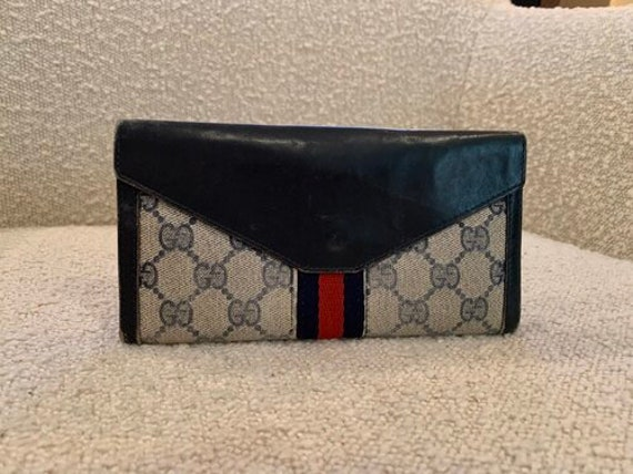 Gucci Vintage 70s GUCCI Navy Supreme Web Women's … - image 2