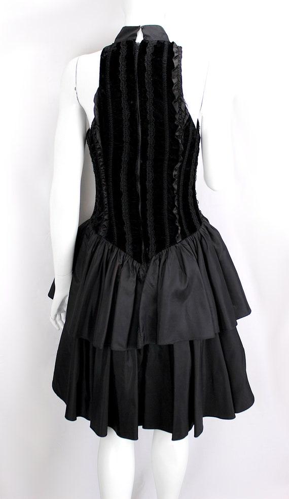 Vintage Dress Evening Satin Puffy Skirt Ruffle Fo… - image 7