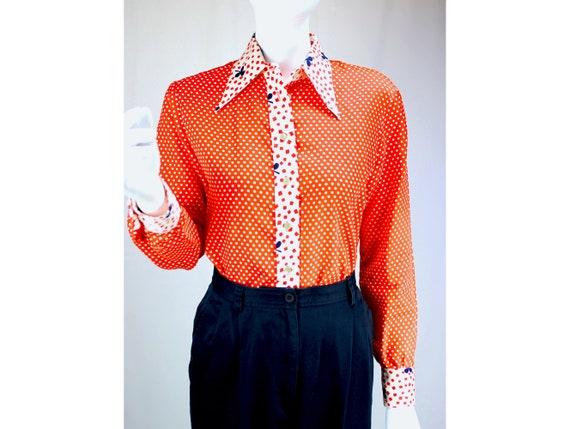 vintage blouse vintage shirt flowy blouse flowy shirt puff sleeve balloon sleeve pink blouse pink shirt 70s blouse 1970s blouse 70s clothes