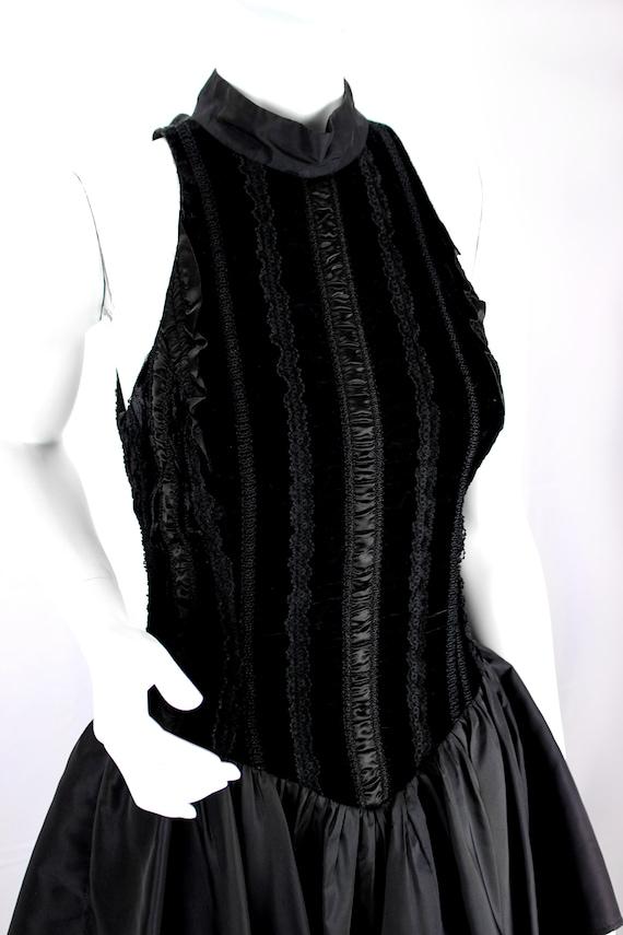 Vintage Dress Evening Satin Puffy Skirt Ruffle Fo… - image 4