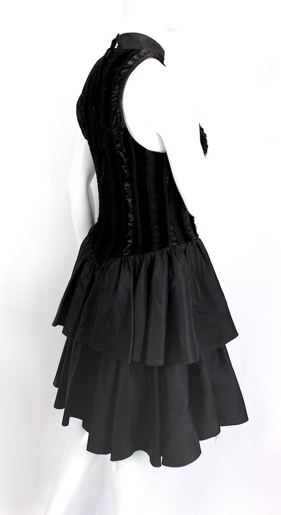 Vintage Dress Evening Satin Puffy Skirt Ruffle Fo… - image 6
