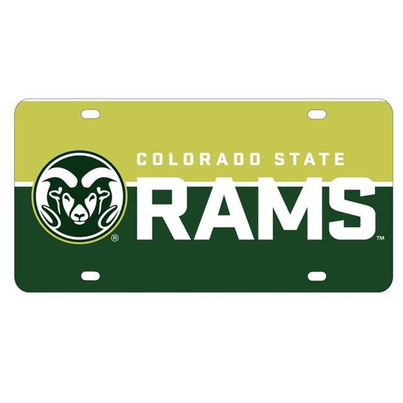 R and R Imports Colorado State Rams Metal License Plate