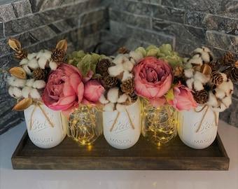 Fake Flowers In Vase Etsy