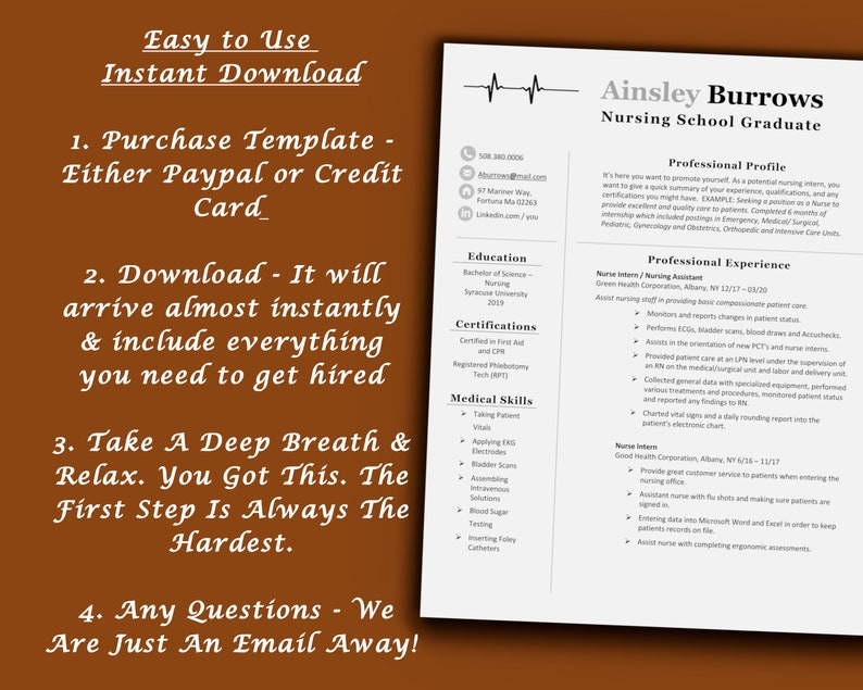 Instant Download ATS Friendly LetterPages Experienced Bartender Food Service Pro Template With Successful Real World Resume Examples