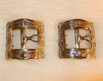 Hampton Roads Santa Claus Exclusive Bronze Snowflake Buckle for 4 Inch Belt