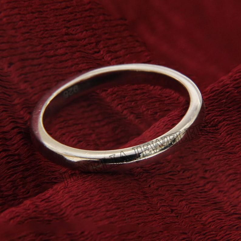 Classic Minimalist Simple White Gold Finish Unisex Sincerity Wedding BandAnniversary BandPromise BandEngagement BandBirthday Gift