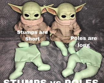 """Poles and Stumps (Pants Only) for The Child Grogu Mattel 11"""" Plushie"""