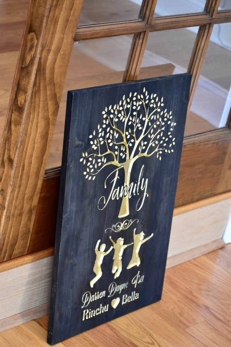 Holiday Grandkids Names Mothers day gift Wedding Gift Gift for Her or Him Personalized Family Tree Custom Present for Mom and Dad