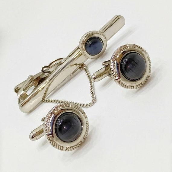 Vintage Black Enamel Crown Double Sided Cufflinks
