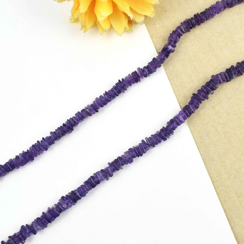 1st Excellent Quality Amethyst Heishi Beads Briolettes Smooth Gemstone Briolettes  4mm 16Inches SRB112