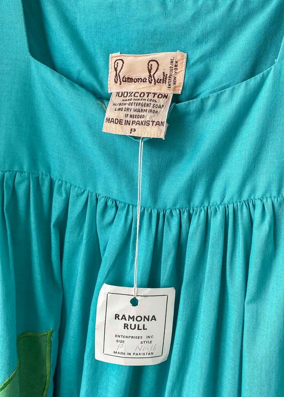 1970s Ramona Rull Cotton Hawaiian Tropical Ruffle… - image 10