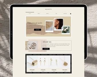 Wix Website Template   Jewellery Store Template   Organic Website Design