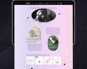 Wix Website Template | Jewellery Store Template | Celestial Website Design