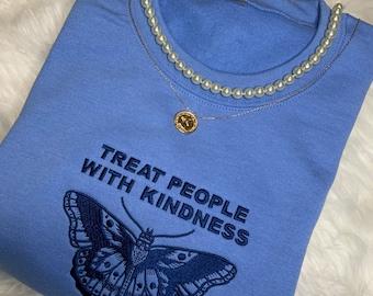 Fine Line butterfly inspired sweater-Blue