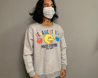 Sesame Street Cartoon Tv Series Crewneck Sweater Sweatshirt