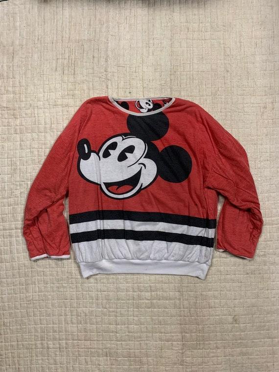 Mickey Mouse Disneys Reversable Full Printed Crewn