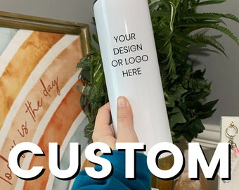 Custom or Personalized 20oz Stainless Steel Tumbler   Colorful Personalized Travel Cup for Mom, Teenager   Includes Lid and Straw