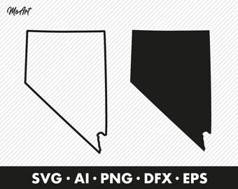 Nevada State Shape Etsy