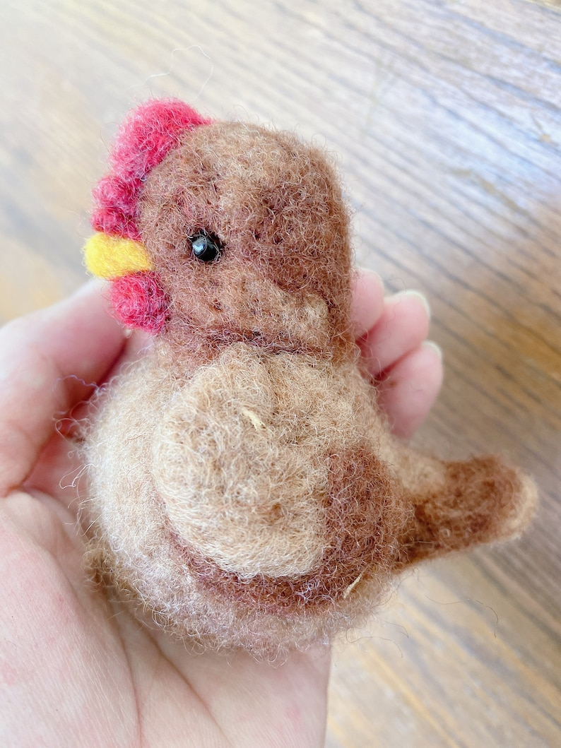Chicken Needle Felted Ms